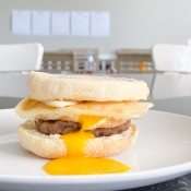 The Best Runny Yoke Breakfast Sandwich