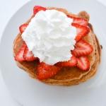 Strawberry Protein Pancakes