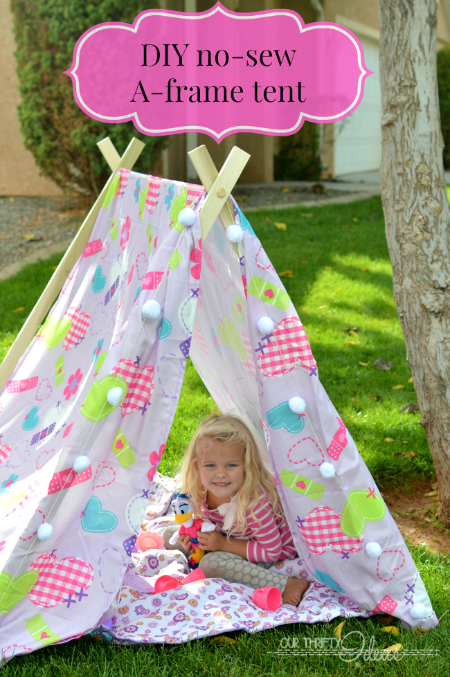 Diy Tent Amp A Slumber Party Idea Our Thrifty Ideas