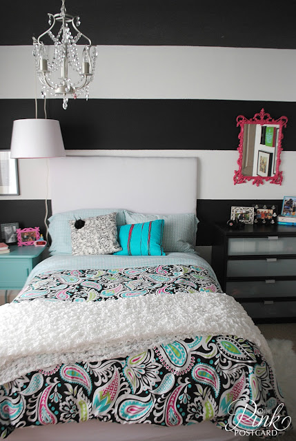 Black & White w/ a pop of color - Room Decor - Our Thrifty ...