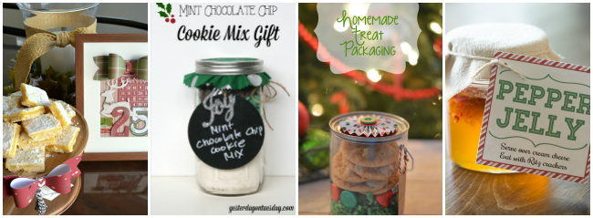 A collage of neighbor gift ideas for Christmas with text overlay for Pinterest