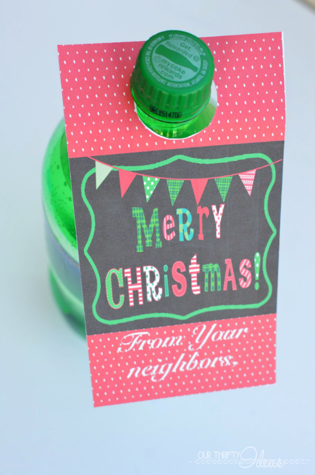 Christmas Soda Tag - Neighbor Gift - FREE Printable