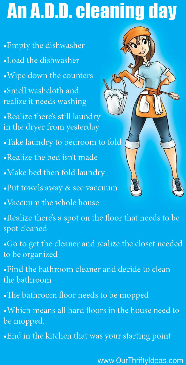 An A.D.D. Cleaning Day - Our Thrifty Ideas