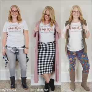 One Shirt, Three Thanksgiving Outfits! *Fashion Friday