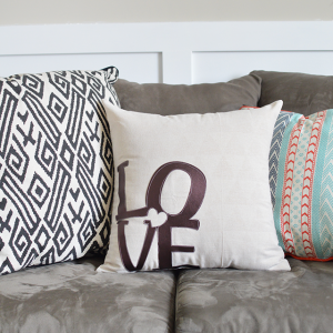 DIY LOVE Pillow using the Cricut Explore Air 2