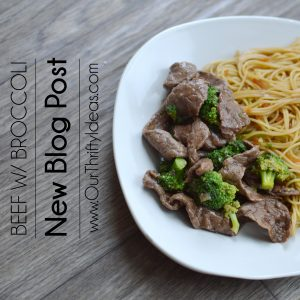 Homemade beef with broccoli that they whole family will love.